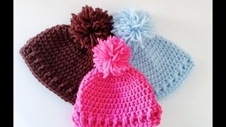 simple and Easy Crochet Baby Hat/Beanie