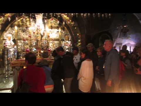 A visit at the Golgotha (Calvary), Church of the Holy Sepulchre, Jerusalem. November 4, 2014