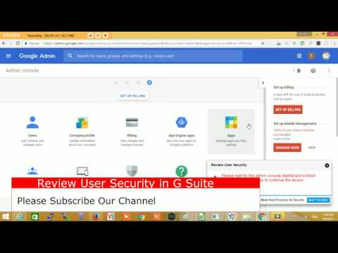 Google G Suite All Security Setting