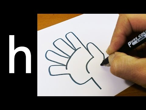 How to Draw Doodle Using Letters 'h' for kids ! Cute & Easy doodle drawing cartoon