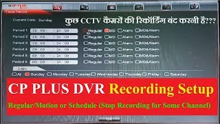CP PLUS DVR RECORDING SETUP! MOTION, REGULAR & SCHEDULE ALL FEATURES  IN HINDI