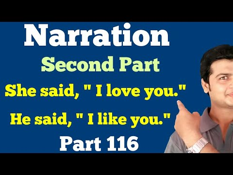 Narration part 2 | Direct & indirect speech | Learn to Change Direct Speech into Indirect Part 116.