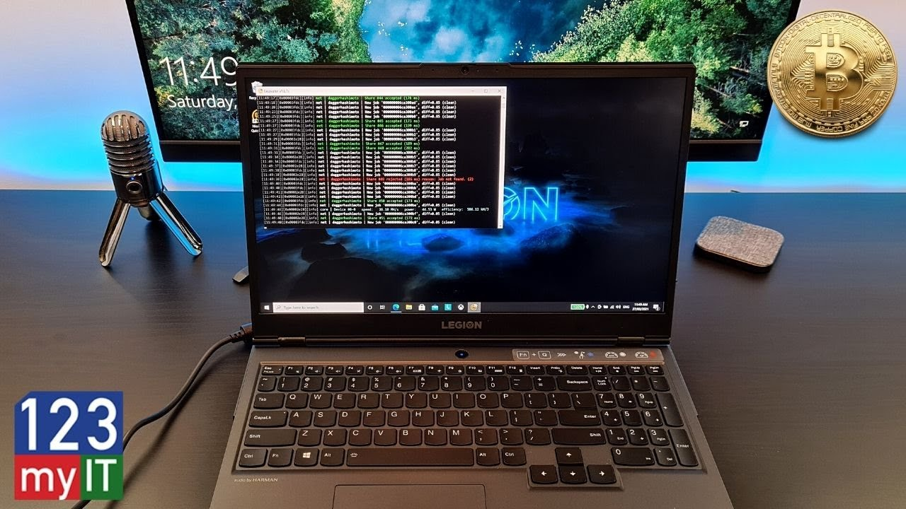 bitcoin mining laptop
