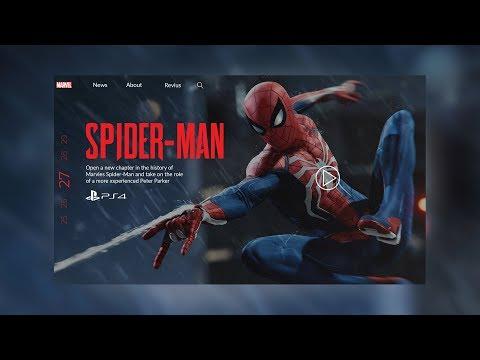 Web Design | Speedart | Marvels Spider-Man