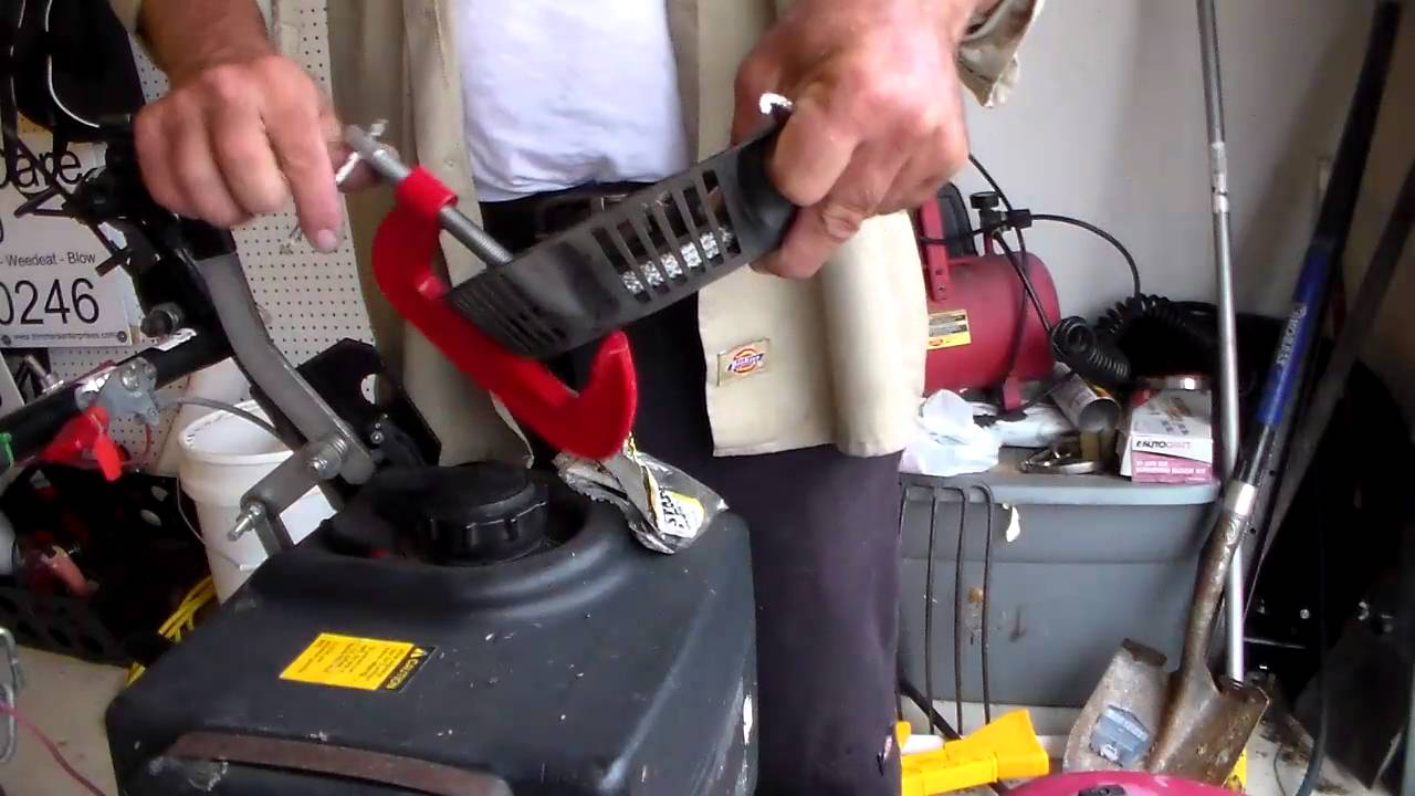 how to fix a pull cord on a lawn mower