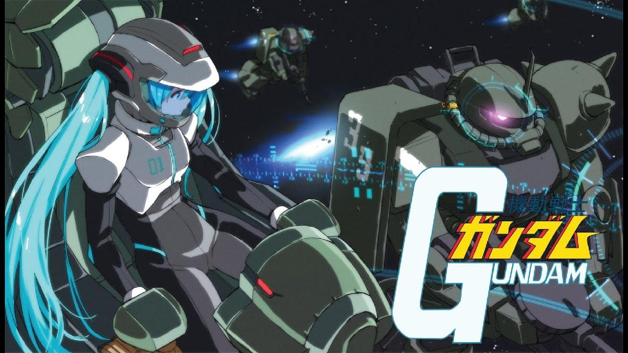 Gundam Girl Wallpaper Hatsune Miku Fly Gundam Opening Gundam 0079 Full