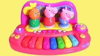 Piano Musical da Porquinha Peppa Pig, George Pig & Candy Cat da Multikids Brinquedos em Portugues BR