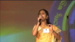 """AKKA IDOL 2008 Round 2 Sandhya """"Deepavu Ninnade Gaaliyu Ninnade.."""""""