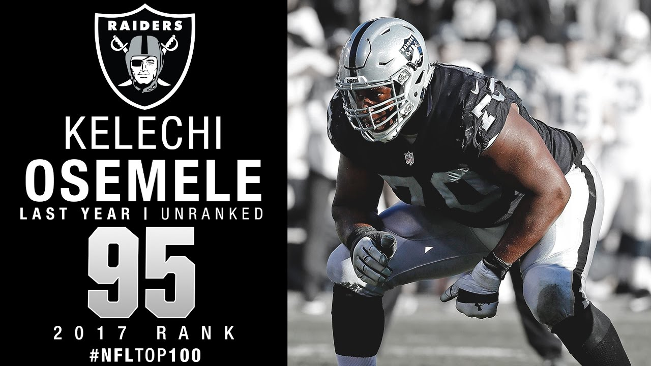 95 Kelechi Osemele OL Raiders Top 100 Players of 2017