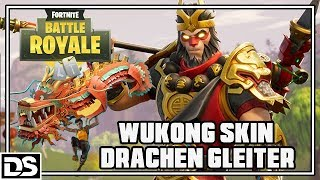 Fortnite Battle Royale Gameplay German - Wukong Skin & Dragon Glider Comes (Fornite English)
