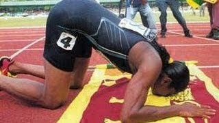 2000 Sydney Olympics 200m women final Susanthika Jayasinghe from Sri Lanka Silver medal mp4 Low 240p