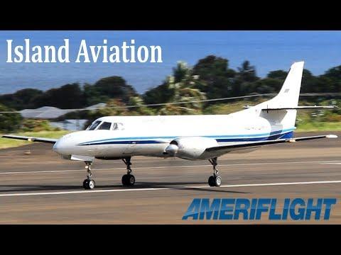 Fairchild Swearingen Metroliner !!! Ameriflight taxi and departure from St. Kitts