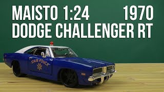 Розпакування Maisto 1:24 1970 Dodge Challenger RT 32519 blue