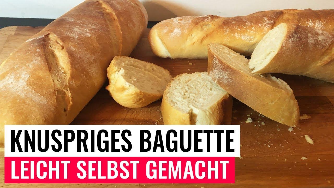 Download Knuspriges Baguette selbst gemacht / Brot selbst backen