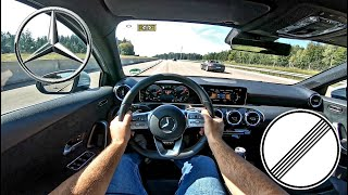 Mercedes Benz A180 136ps W177 (2020) | Top Speed German Autobahn POV Test Drive