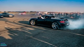 Porsche Carrera GT Crazy Drift - Cars and Coffee Italy