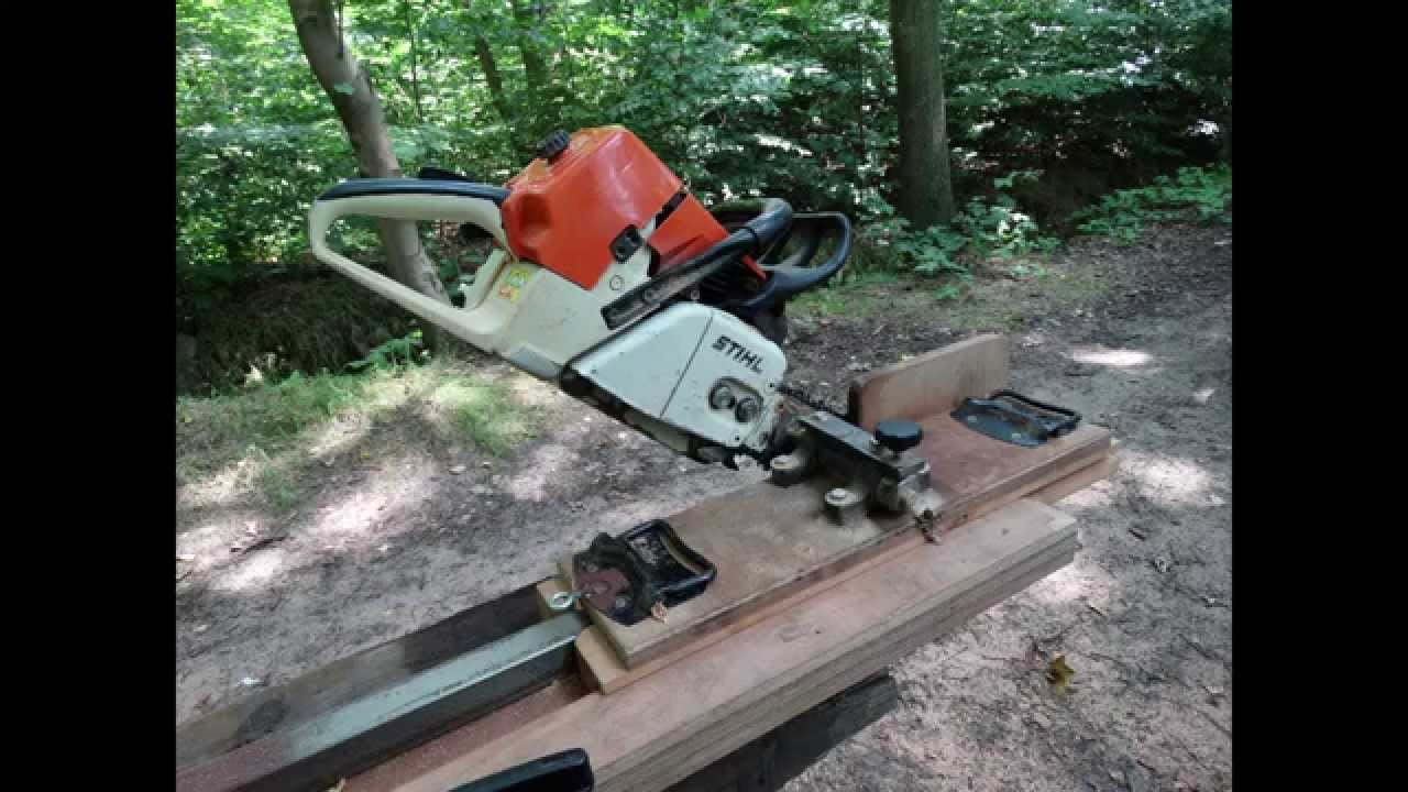 Balken zagen met kettingzaag Cutting beams lengthwise with chainsaw (Stihl MS 460)   YouTube