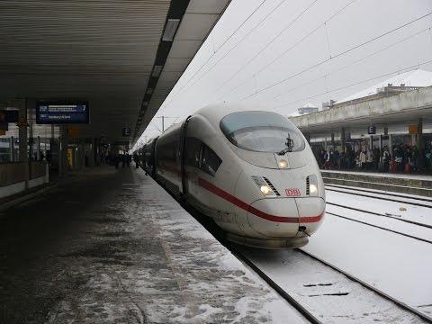 Fahrt durch den Schnee: Mitfahrt im ICE 886 von Würzburg nach Hannover