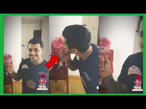 Belinda Graba a su Novio Christian Nodal dándole un Beso tierno a Poppy de Trolls2 / Maikell Show