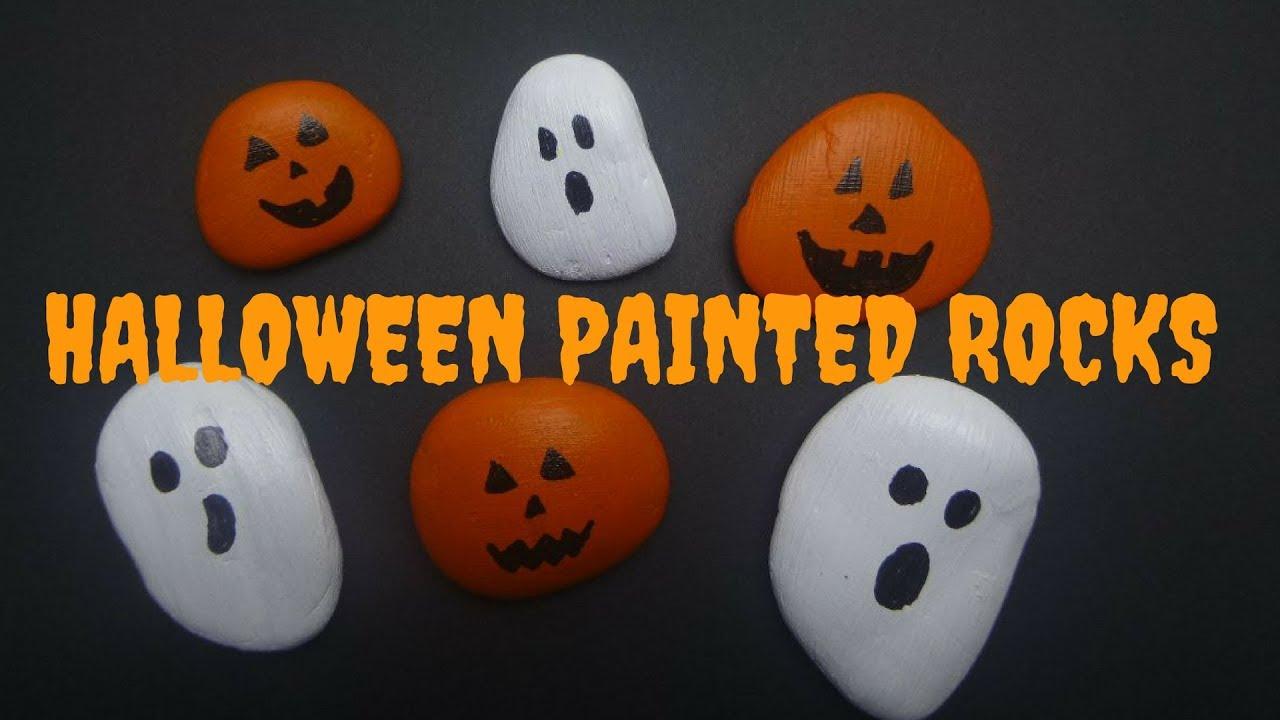 Diy Halloween Painted Rocks Kids Halloween Craft Youtube