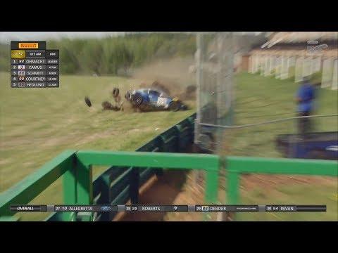 Pirelli World Challenge (SprintX GTS) 2018. Race 1 Grand Prix of Virginia. Big Crash Aftermath