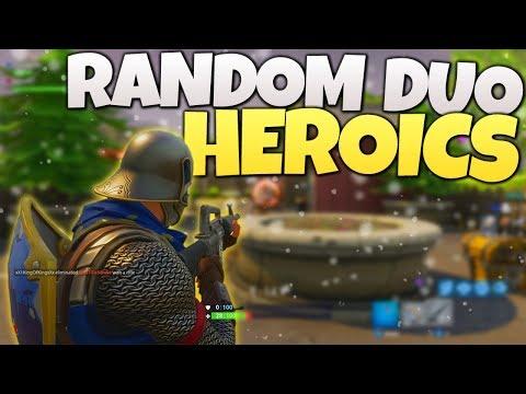 Random Duo HEROICS! - Fortnite Duos Adventures w/ Alecs - PS4 Fortnite Duos Gameplay LIVE!