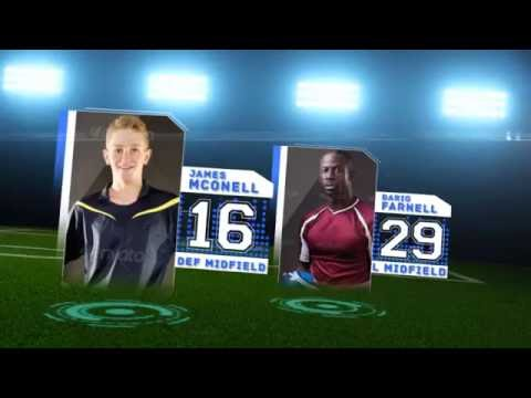 Soccer Starting Lineup After Effects Template Youtube
