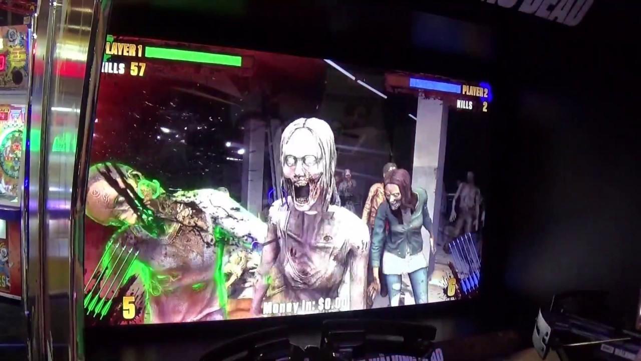 The Walking Dead Arcade Hands On Iaapa 2016 Play Mechanix Raw