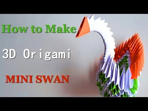3d Origami Small Swan Tutorial Diy Paper Crafts Giulias Art