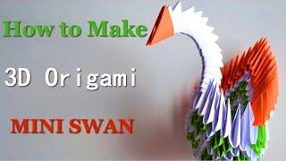 Origami - Paper Swan - 3D Model - DIY Crafts Tutorials - Giulia