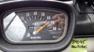 Wheee! 2 stroke Subaru 360cc morning speed blast !