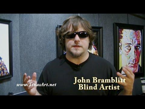 Blind Artist - John Bramblitt - www.TinasArt.net - Artists With Disabilities