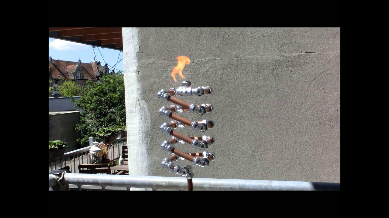 Marvelous Slinky Tiki Torch Video   Copper And Chrome Collection   FredPereiraStudios    YouTube