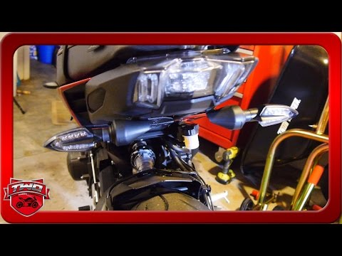 How To Install LED Turn Signals Blinkers 2017 FZ09 MT09