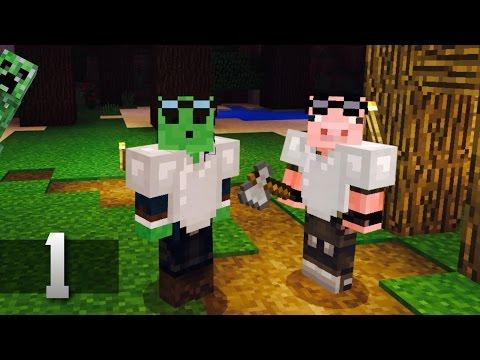 Slime Swine Adventures - Minecraft Co-op Survival : Ep.1