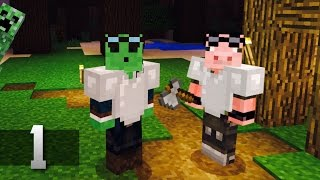 "Slime Swine Adventures - Minecraft Co-op Survival : Ep.1 ""SURVIVE!"""