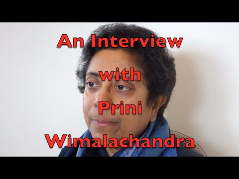 INTERVIEW WITH PRINI WIMALACHANDRA  (S S I O of NZ) 19 June 2016 recorded by Gulab Bilimoria
