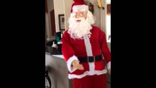 Gemmy Animated Lifesize Realistic Dancing Santa