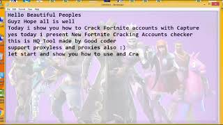 Fortnite Accounts Cracker & Checker with Capture New Cracking Tool 2018