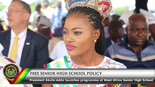 President Akufo-Addo Launches Free SHS Policy
