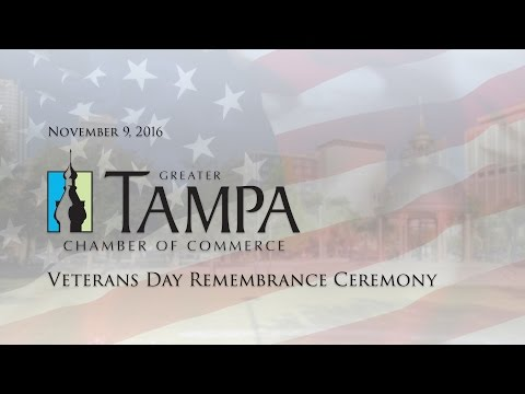 Greater Tampa Chamber of Commerce Veterans Remembrance 2016