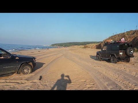JEEP GRAND CHEROKEE WJ vs LAND ROVER DEFENDER 110  ** Sand OFF-ROAD :) **