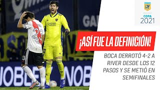 ¡IMPERDIBLE! La definición por penales que ganó #Boca ante #River para llegar a semifinales