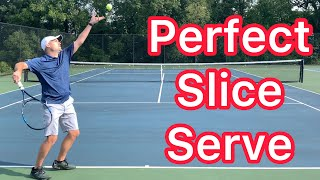 How To Curve A Perḟect Slice Serve (Tennis Technique Explained)