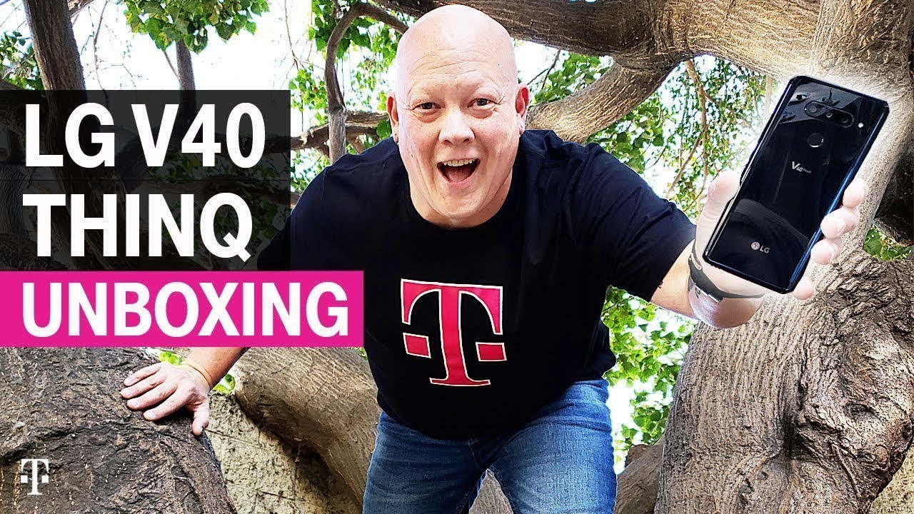 NEW LG V40 ThinQ Unboxing in Los Angeles with AskDes | T-Mobile