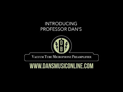 Introducing the DB Vacuum Tube Microphone Preamplifier