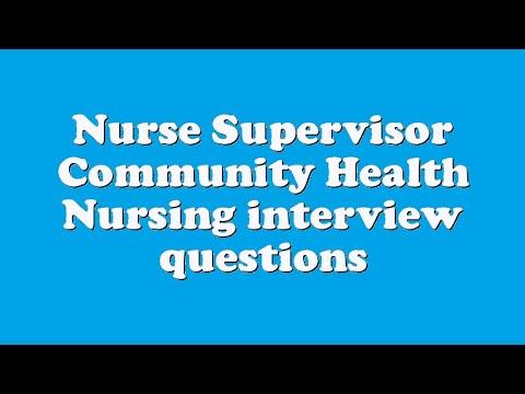 nurse supervisor interview questions