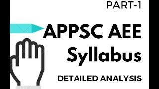 APPSC AEE Syllabus [ Part 1 ] Detailed Analysis