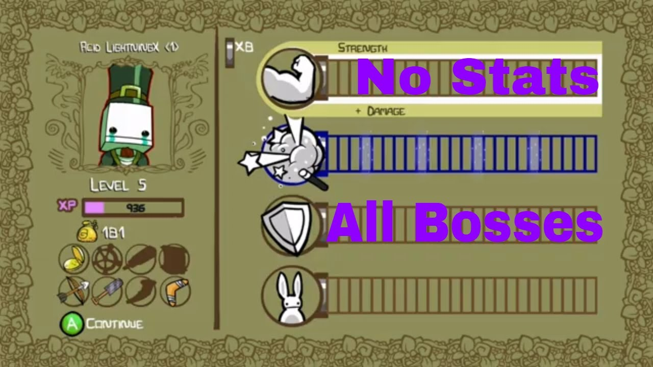 Castle Crashers Remastered All Bosses No Stats Youtube