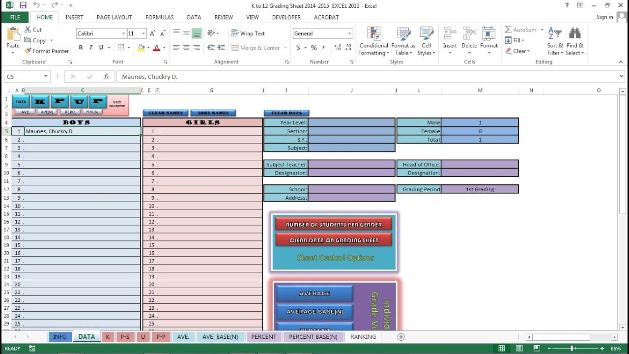 grading sheet - Selo.l-ink.co